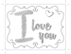 chalk love Free Dxf File for CNC
