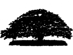 big tree Free Dxf File for CNC
