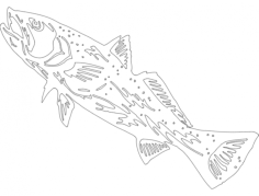 fish 5 Free Dxf File for CNC
