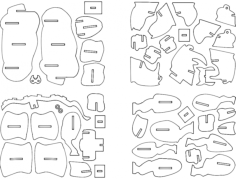 rhino 3d puzzle Free Dxf File for CNC