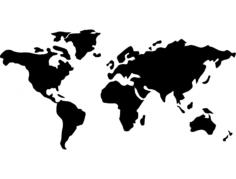 mundo (world map) Free Dxf File for CNC