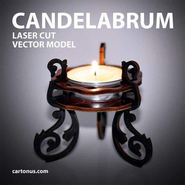 Cartonus Candelabrum 40mm Free Vector Cdr