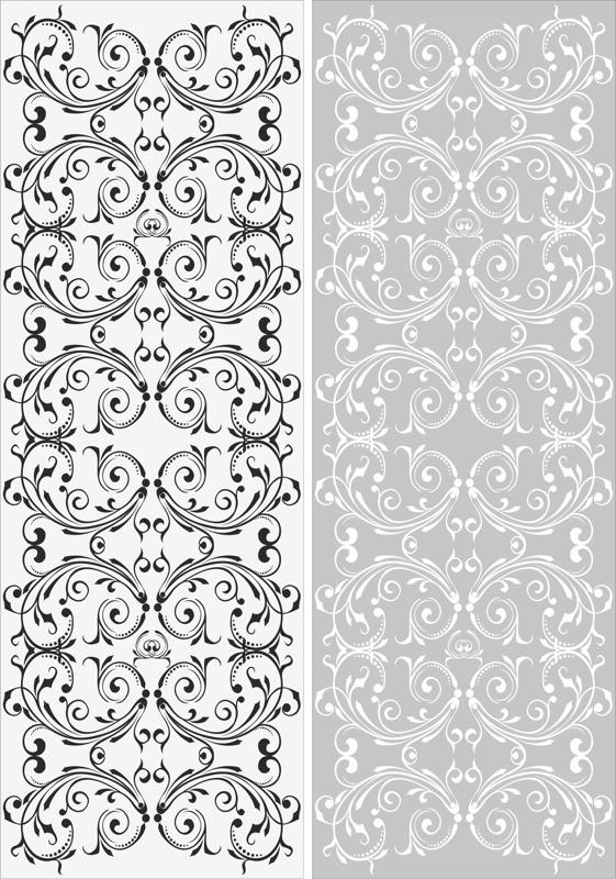 Swirl Floral Sandblast Pattern Free Vector Cdr