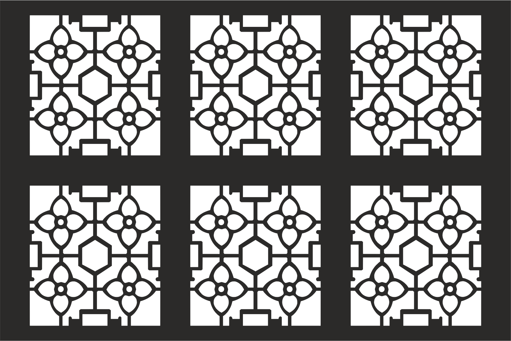 Decorative Grille Pattern Free Vector Cdr