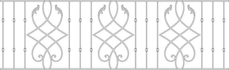 Wrought iron railings model vector Free Vector Cdr