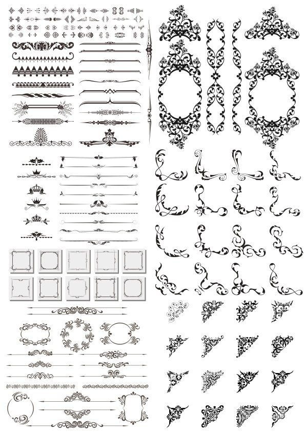 Dividers and Design Elements Free Vector Cdr