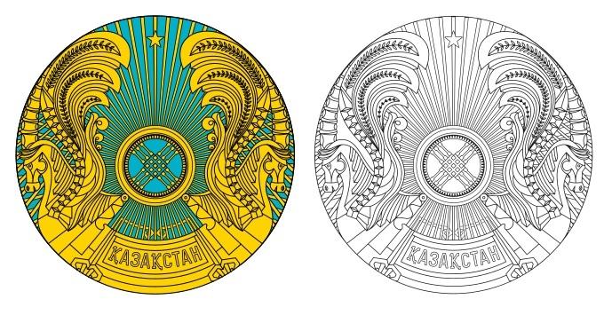 Emblem of Kazakhstan logo Free Vector Cdr