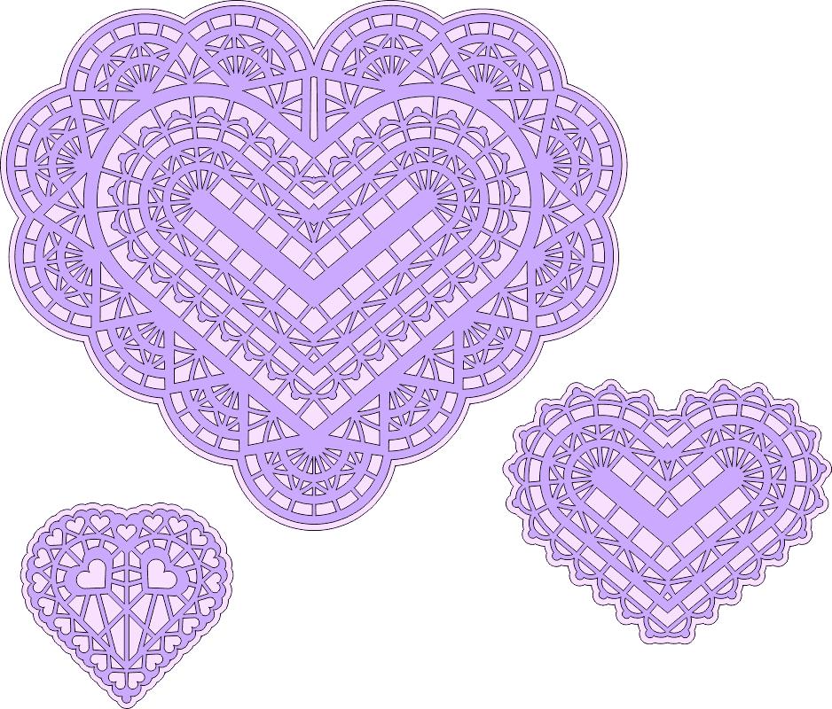 Three Hearts Free Vector Cdr