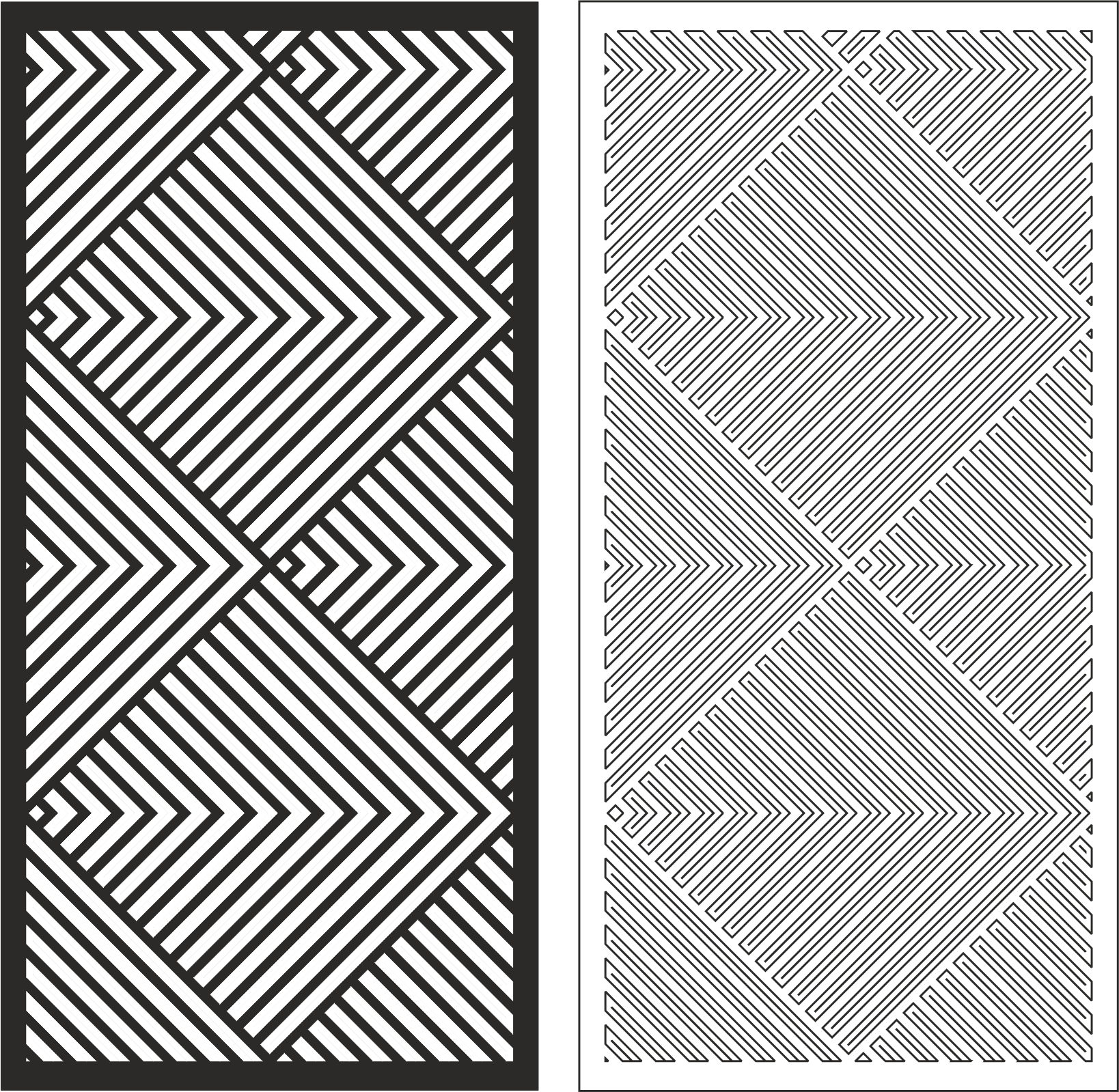 Linear Pattern Vector Art Free Vector Cdr