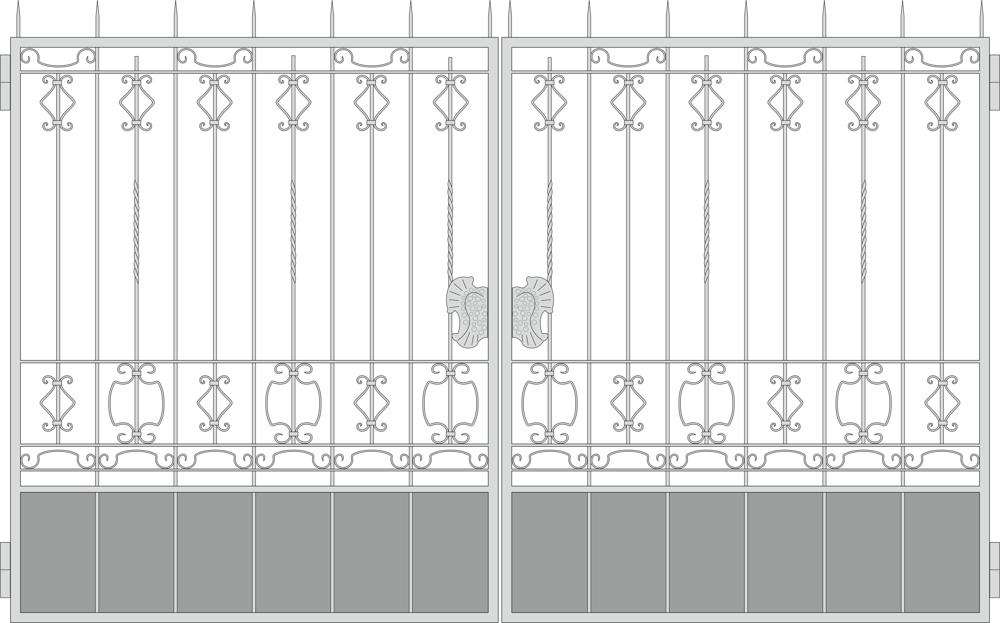 Forged Gates Design Vector Free Vector Cdr