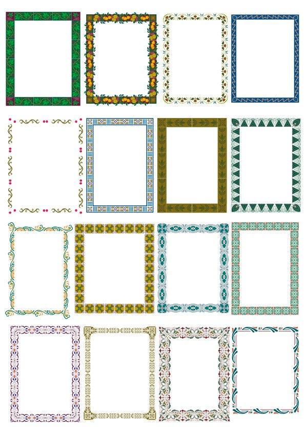 Floral Frame Border Set Free Vector Cdr