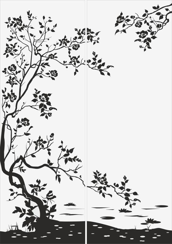 Flowers Sandblast Pattern Free Vector Cdr