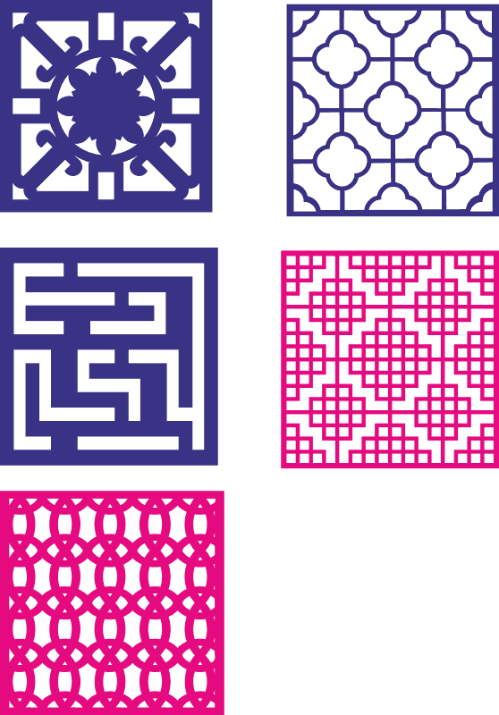 Endless Abstract Patterns Free Vector Cdr