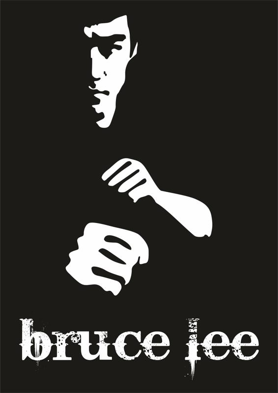 Bruce Lee Poster Vector Free Vector Cdr