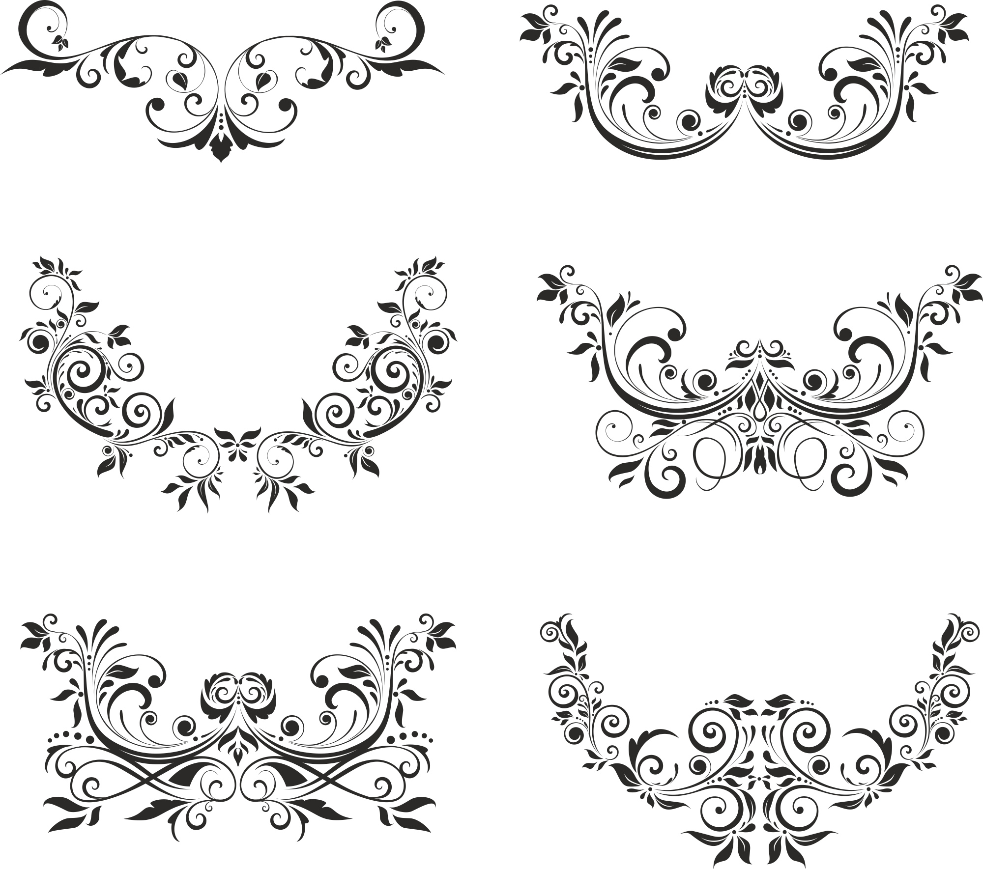 Floral Elements Free Vector Cdr