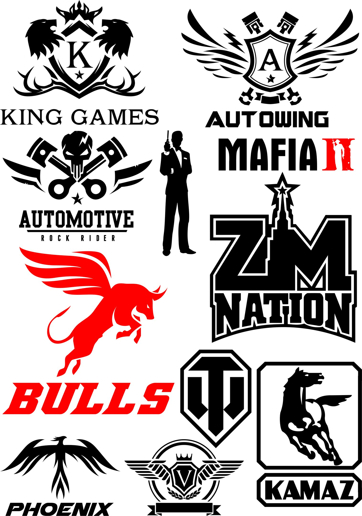 Auto Sticker Pack Free Vector Cdr