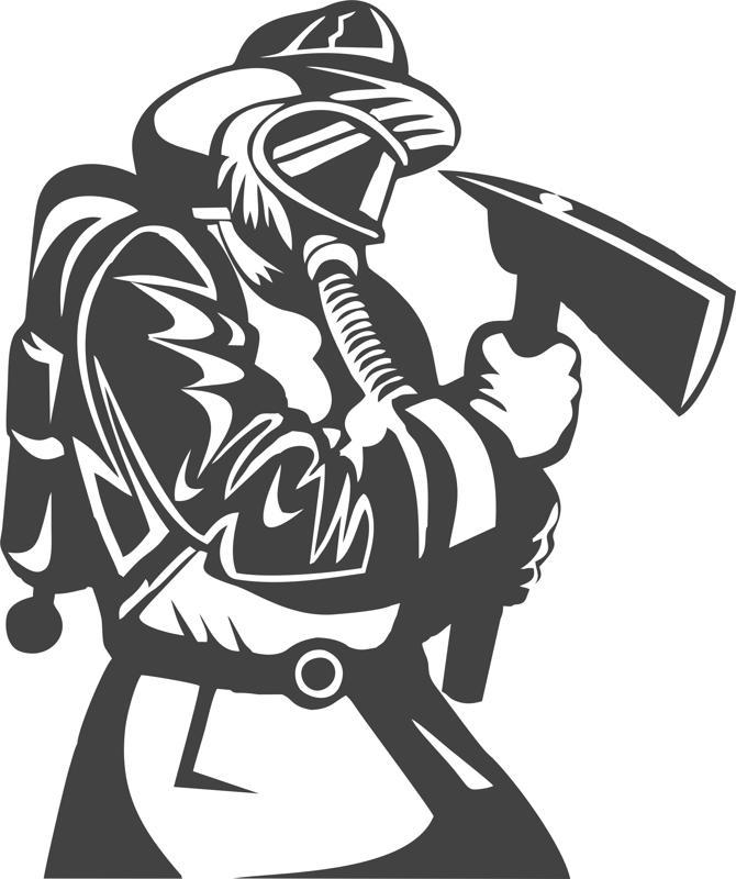 Fireman Wall Sticker Vector Free Vector Cdr