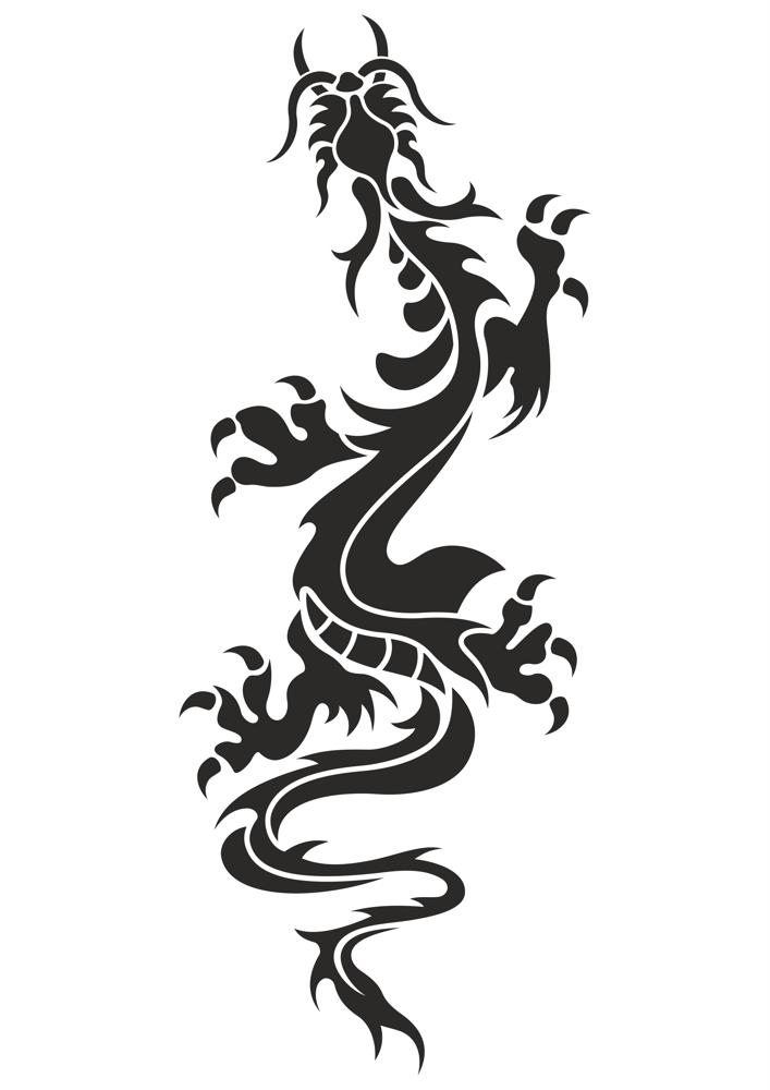 Chinese Dragon Tattoo Vector Free Vector Cdr