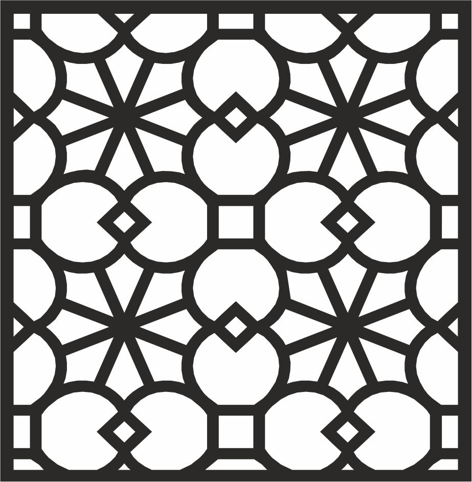 Decorative Panel Design Free Vector Cdr