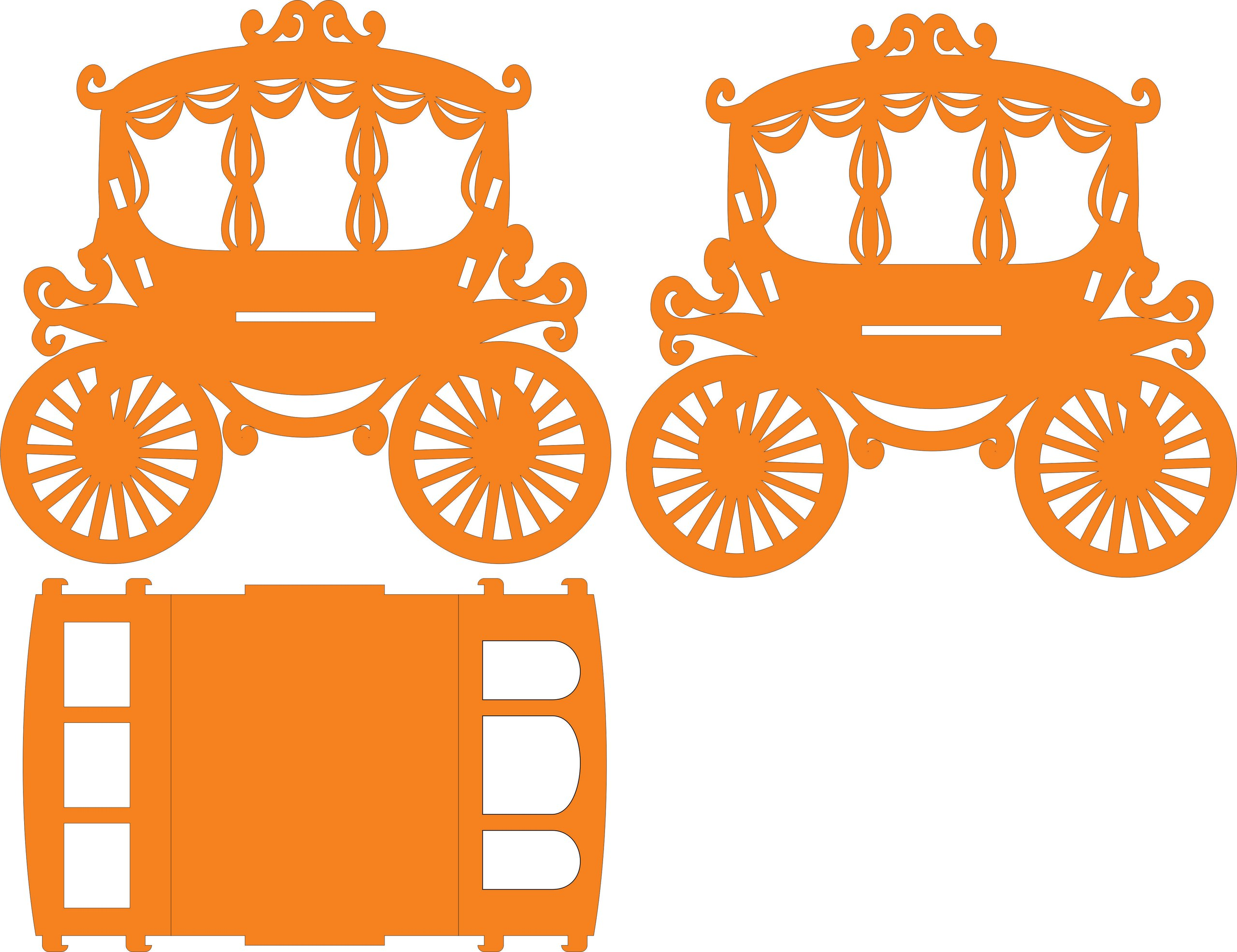 Carriage lasercut Free Vector Cdr