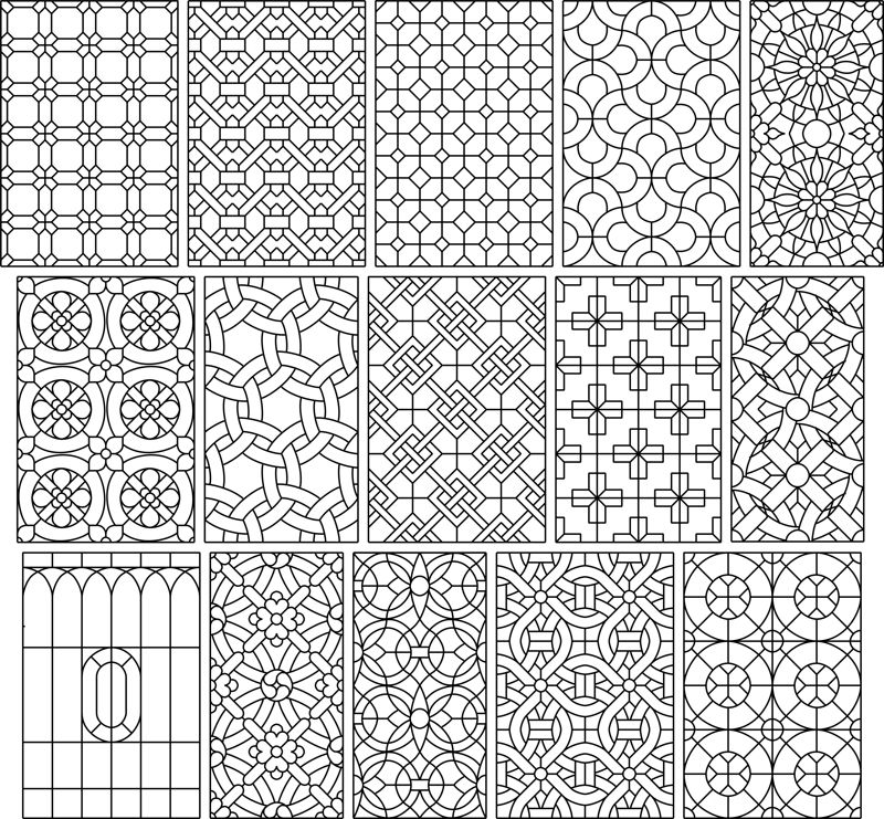Big Set 15 Seamless Simple Black And White Patterns Free Vector Cdr