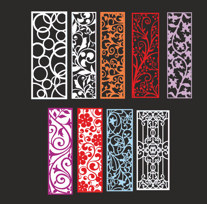 Ornamental pattern collection Free Vector Cdr