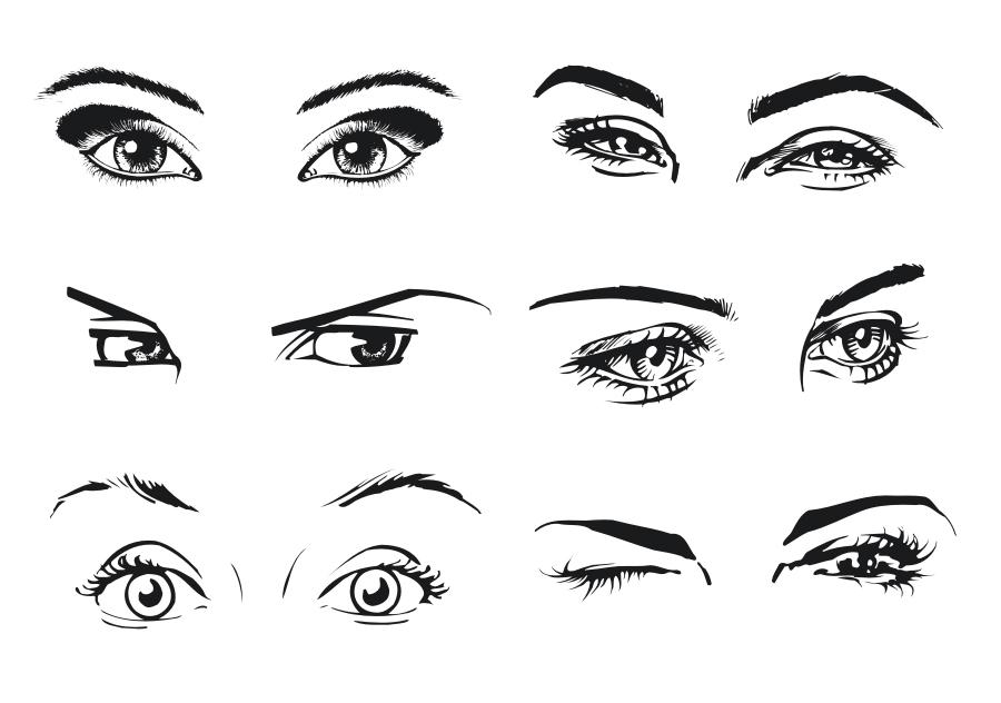 Female Eye Vector Art Free Vector Cdr