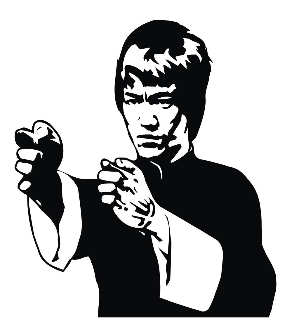 Bruce Lee Vector Free Vector Cdr