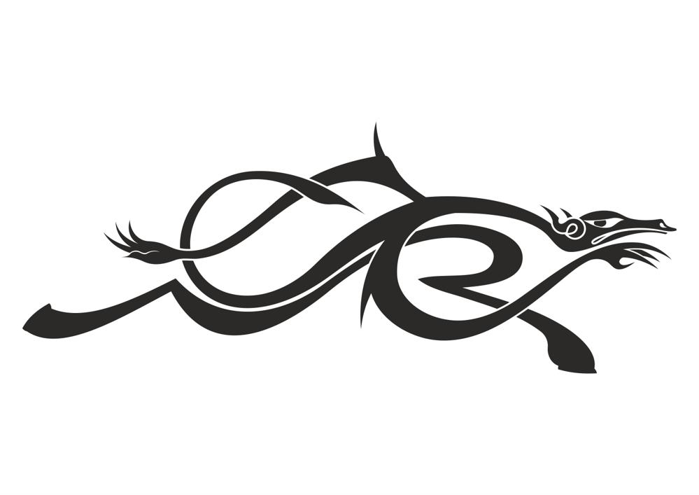Dragon Symbol Tattoos Vector Free Vector Cdr