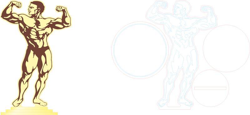 Bodybuilding Clipart vector Free Vector Cdr