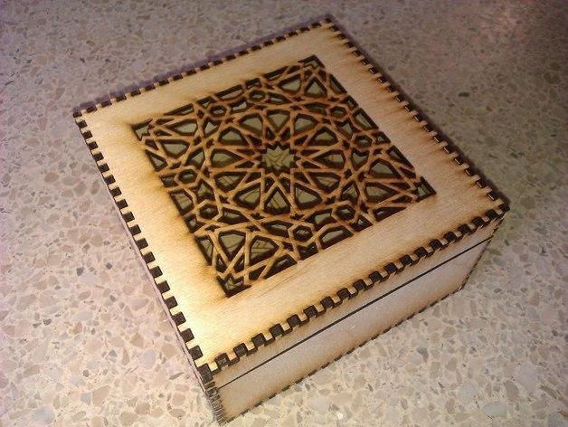 Laser Cut Islamic Box Free Vector Cdr