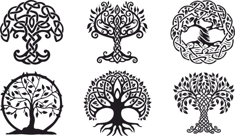 Celtic Trees vector Free Vector Cdr