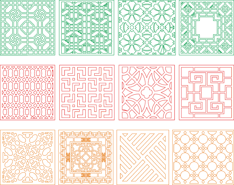 Window divider design files ready for cnc work Free Vector Cdr