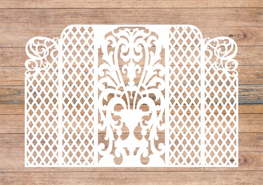 Wedding Screen, Wedding Arch Lase Cut Free Vector Cdr