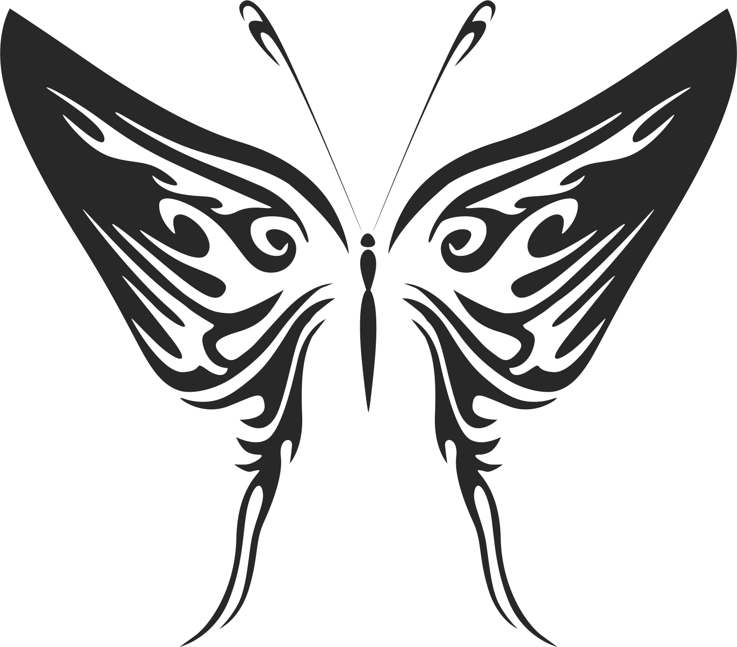 Butterfly Tribal Free Vector Cdr