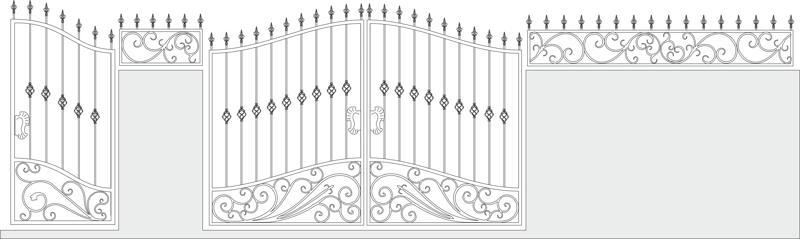 Iron Gate Vector Set Vector Art Free Vector Cdr
