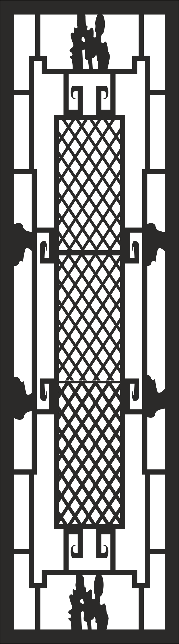 Iron Window Grill Design Vector Free Vector Cdr