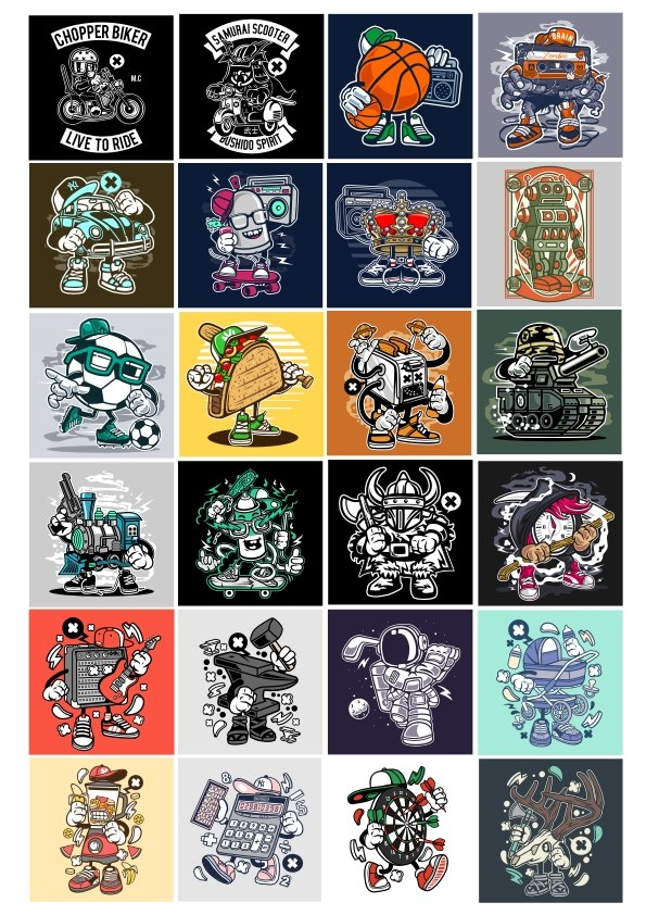 Stikers Set 4 Free Vector Cdr