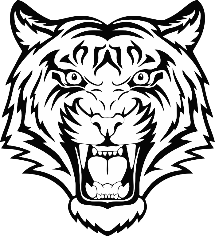 Tiger Head Vector Free Vector Cdr