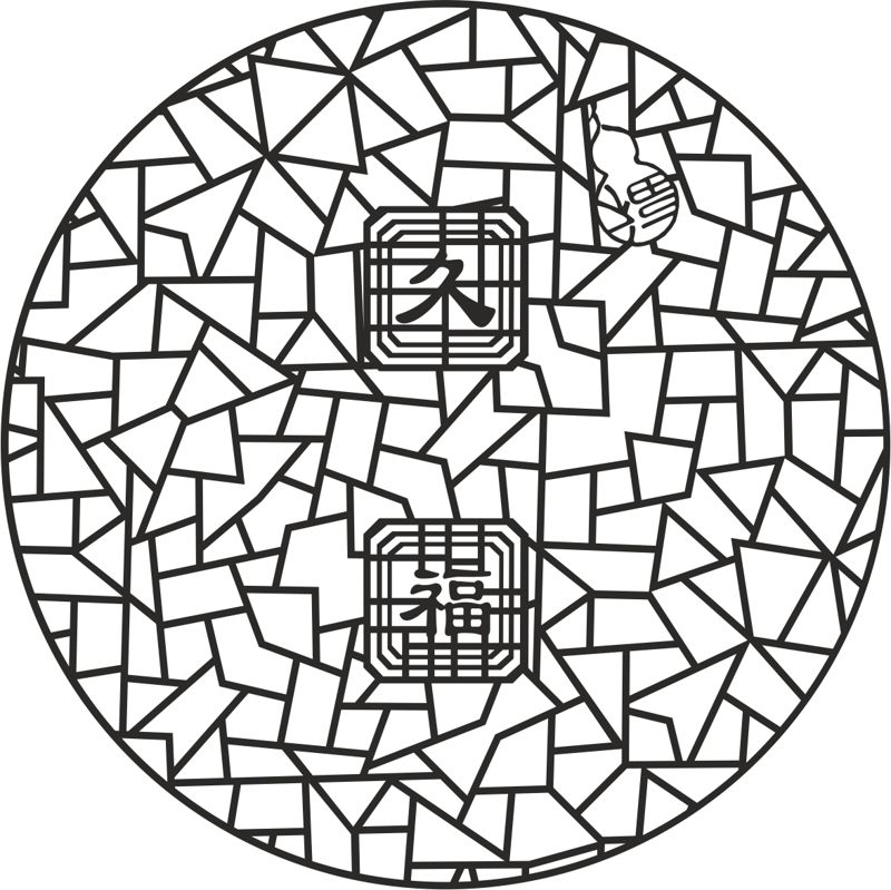 Ancient 2d jali design Free Vector Cdr
