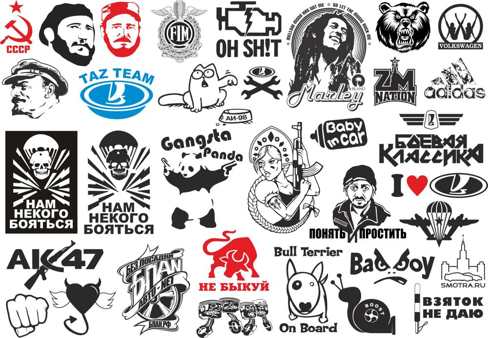 Popular Stickers Pack Vector Free Vector Cdr