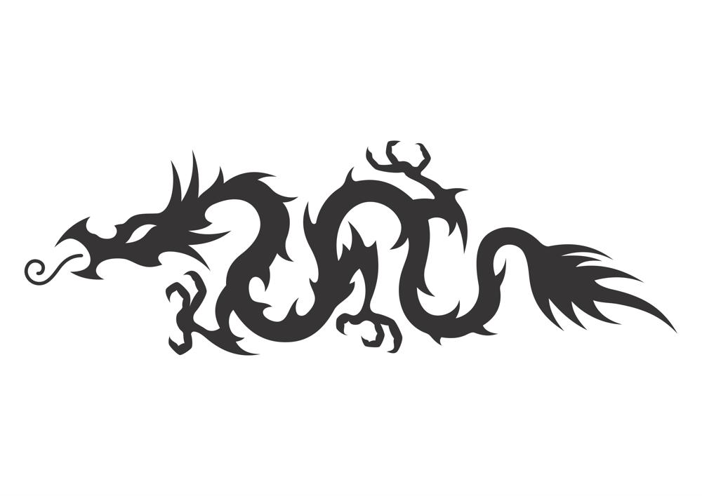 Medieval Hollow Tribal Dragon Tattoo Vector Free Vector Cdr
