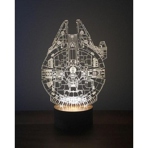 Millenium Falcon 3D Lamp Free Vector Cdr