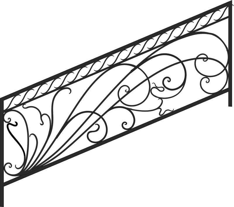Decorative Deck and Porch Railing Free Vector Cdr