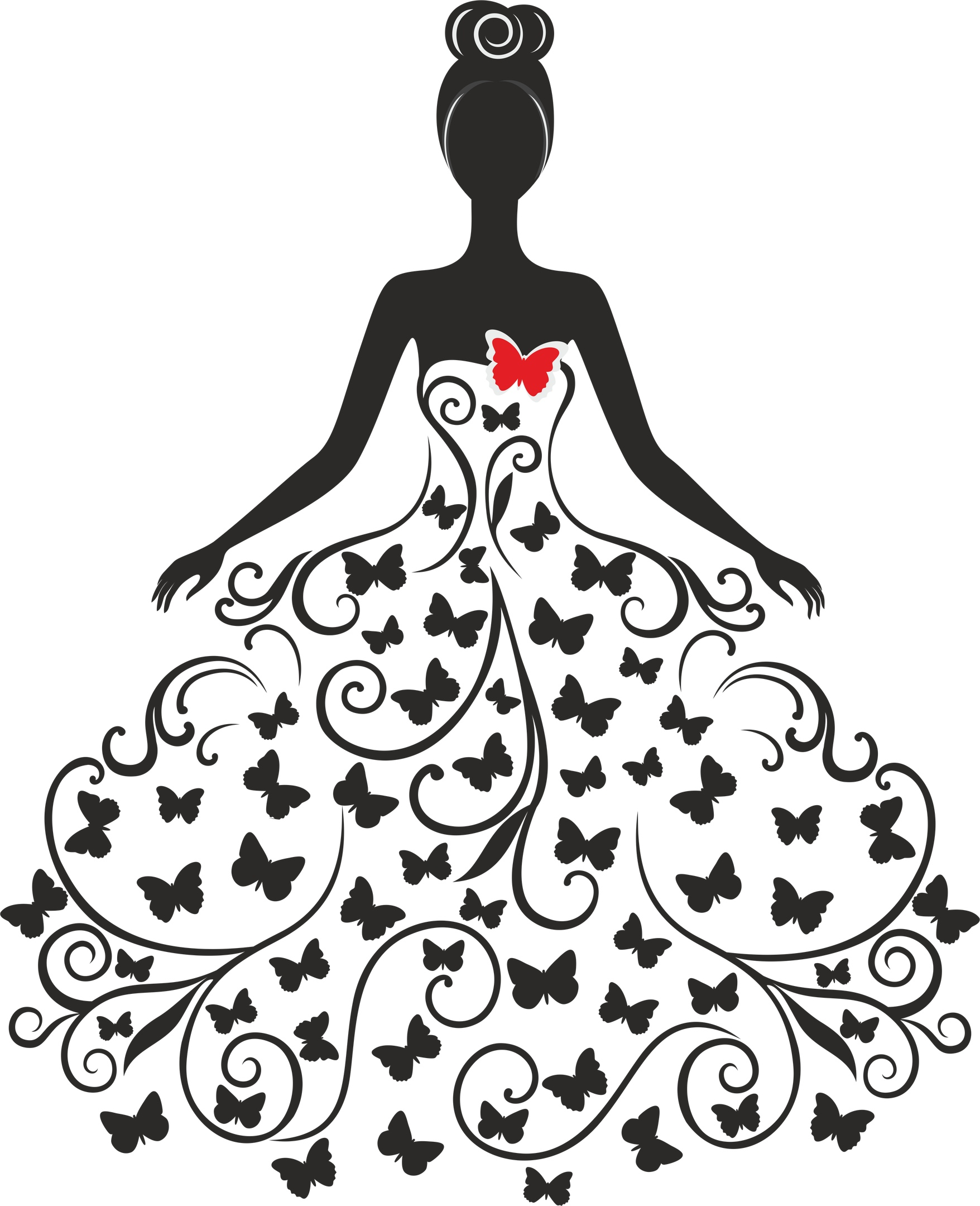 Wedding Silhouette Free Vector Cdr