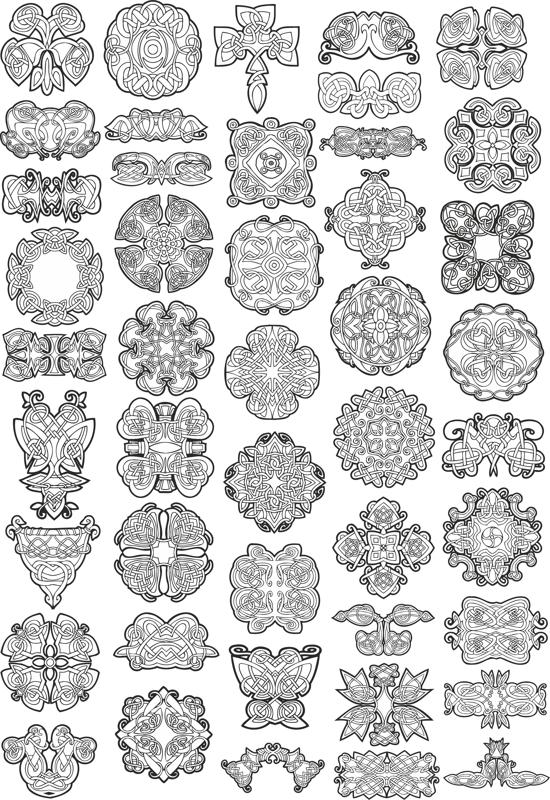 Collection of Celtic Knot Patterns Free Vector Cdr