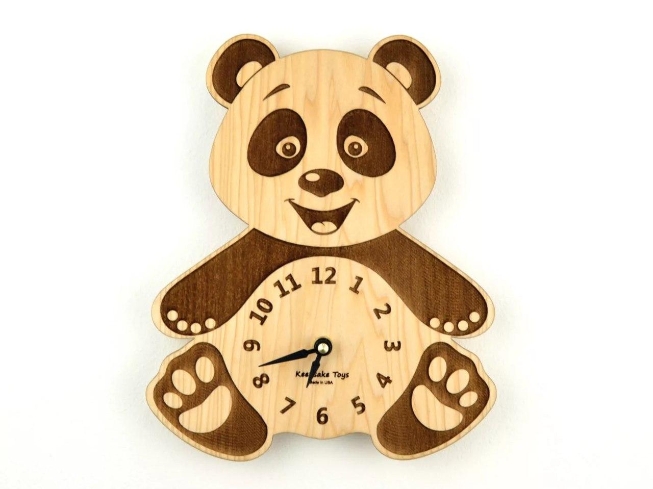 Panda Clock 3D Puzzle Laser Cut Free Vector Cdr