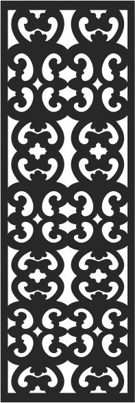 Window pattern design Free Vector Cdr