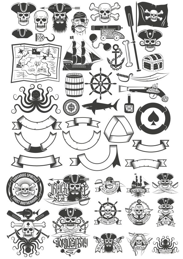 Pirate Item Free Vector Cdr