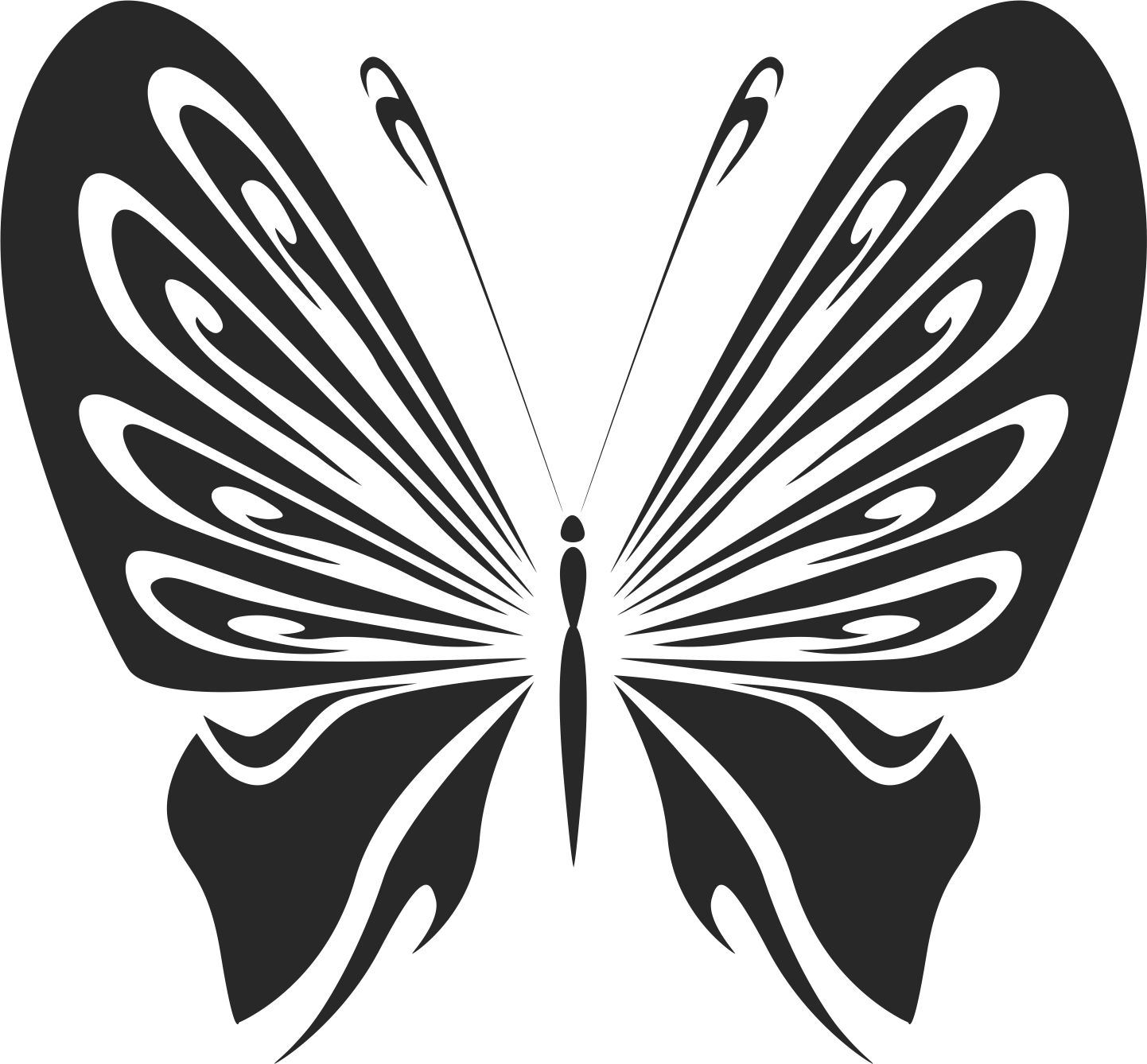 Vintage Butterfly Stencils Free Vector Cdr